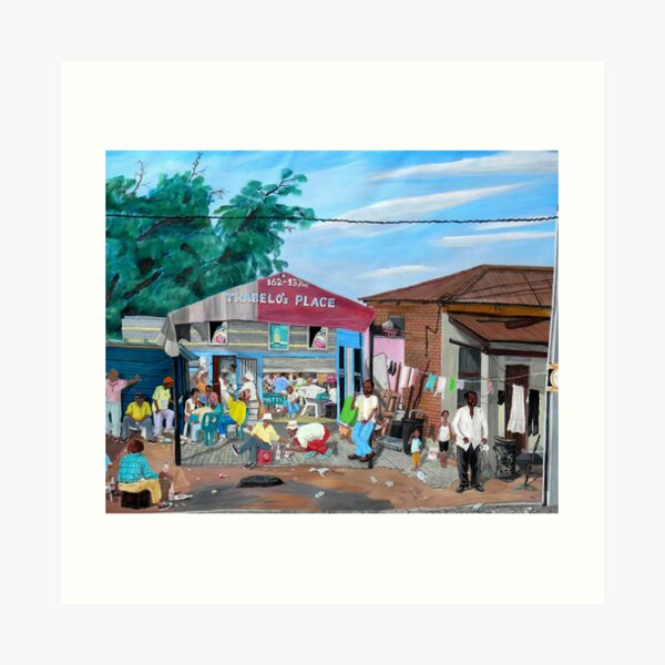 Tommy Machaba - Over at the Shebeen Art Print