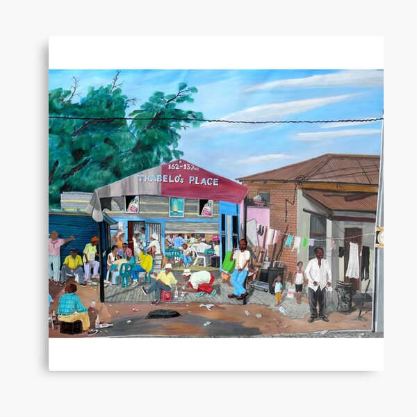 Tommy Machaba - Over at the Shebeen Metal Print