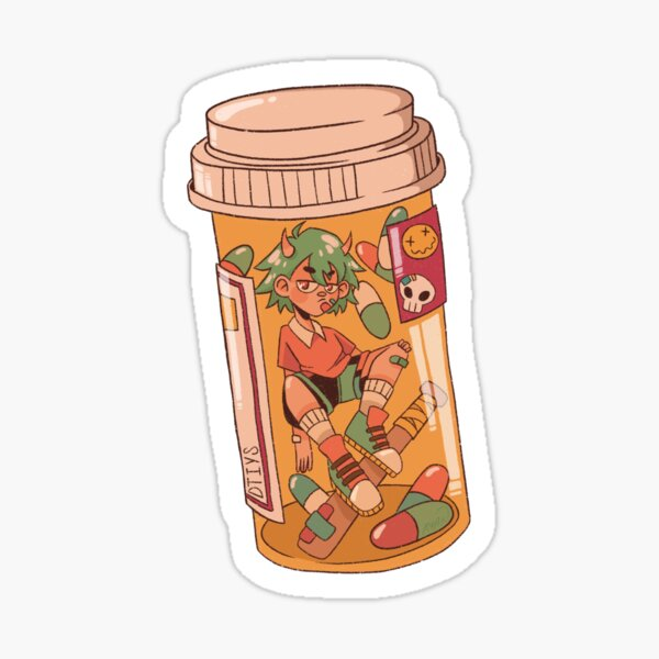 pill bottle boy  Sticker