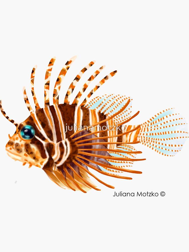 Zebra Lionfish by julianamotzko