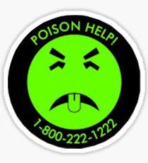 Retro Mr.Yuk poison Sticker