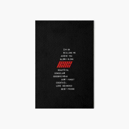 IKON poem/name collage and logo Art Board Print