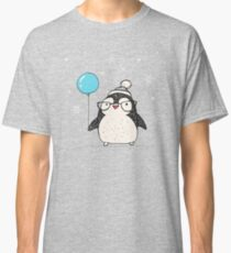 Christmas Penguin Balloon Classic T-Shirt