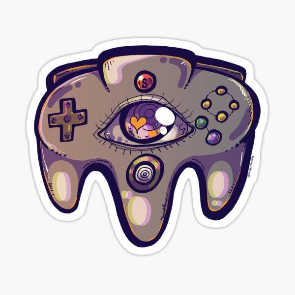 Retro Pastel Eyed Controller Sticker