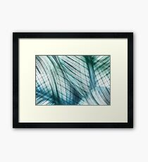 Nature Leaves Abstract in Turquoise and Jade Framed Print