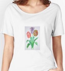 Tulip Trio Women's Relaxed Fit T-Shirt
