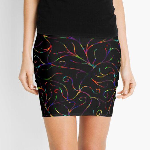 Black Velvet, Rainbow Vines Mini Skirt