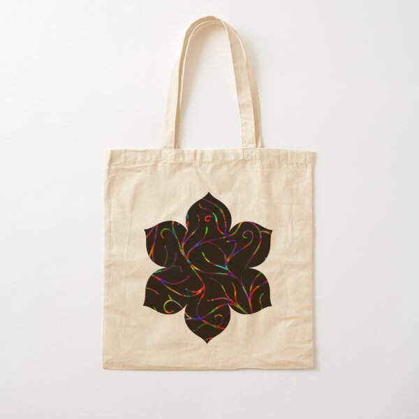 Black Velvet, Rainbow Vines Cotton Tote Bag