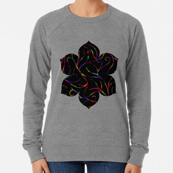 Black Velvet, Rainbow Vines Lightweight Sweatshirt