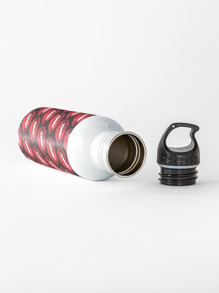 Alternate view of Lip Pattern - Black Water Bottle