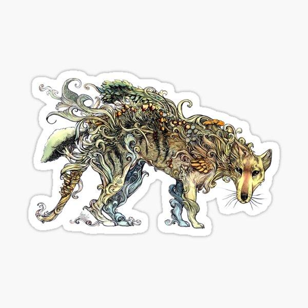Ein Phantom in der Wildnis - Die Thylacine. Sticker