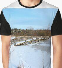 The Herrestadsjön bridge II Graphic T-Shirt