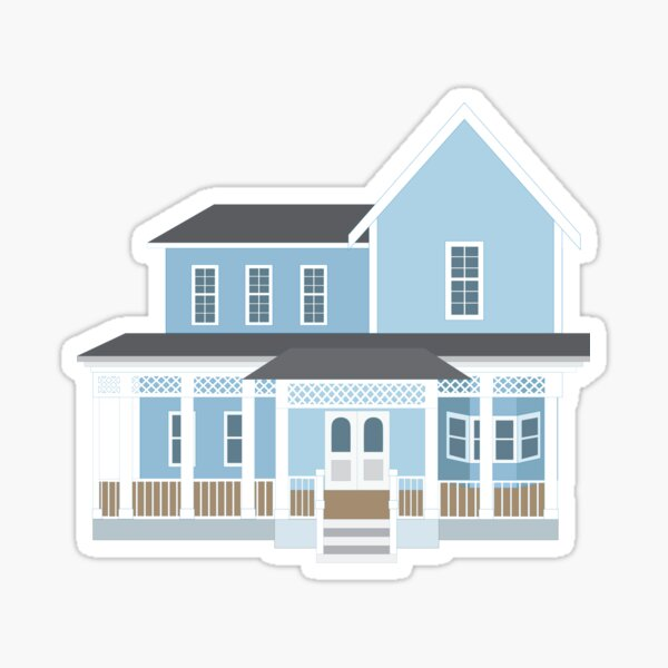 Lorelai and Rory's House Sticker