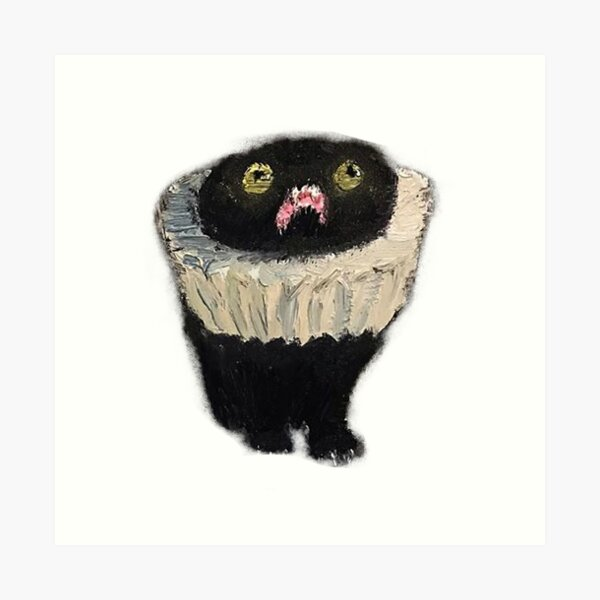 cat paintings that are quite frankly a mood Art Print