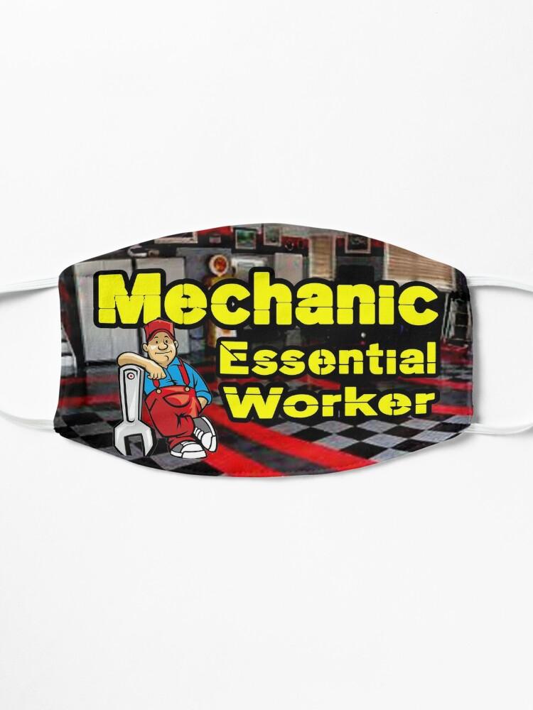 Alternate view of Mechanic Essential Worker design Mask