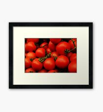 Red Tomatoes Framed Print