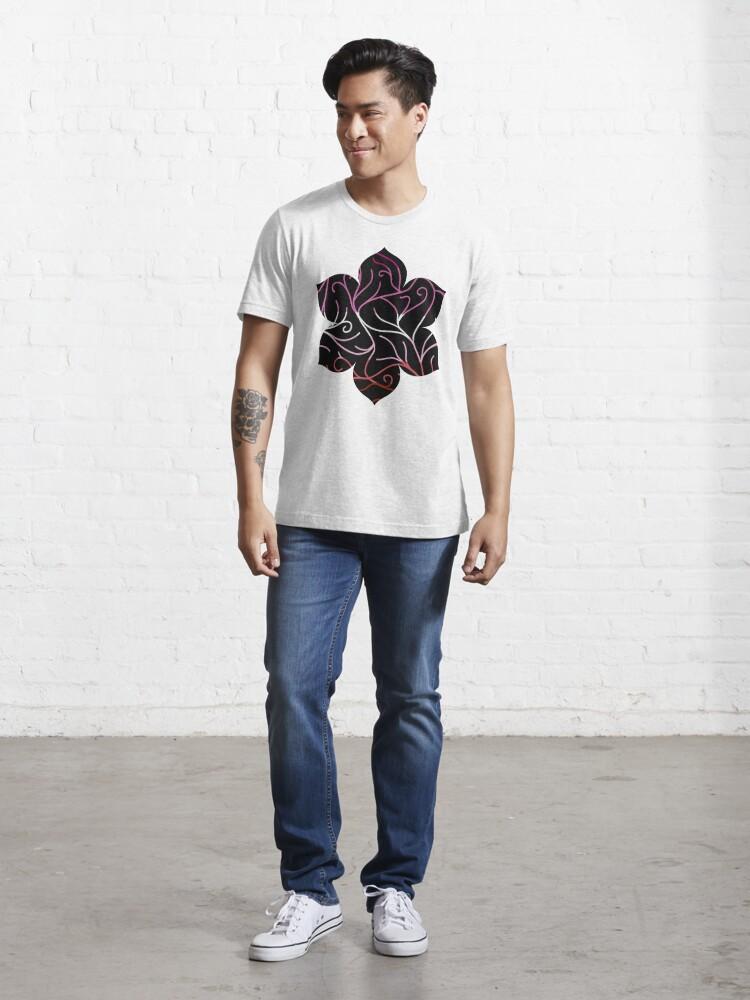 Alternate view of Black Velvet, Lesbian Flag Vines Essential T-Shirt