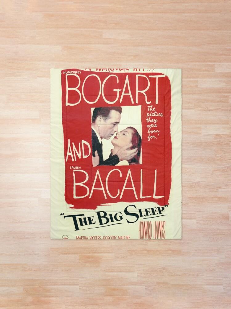 Alternate view of The Big Sleep - vintage movie poster (Bogart, Bacall) Comforter