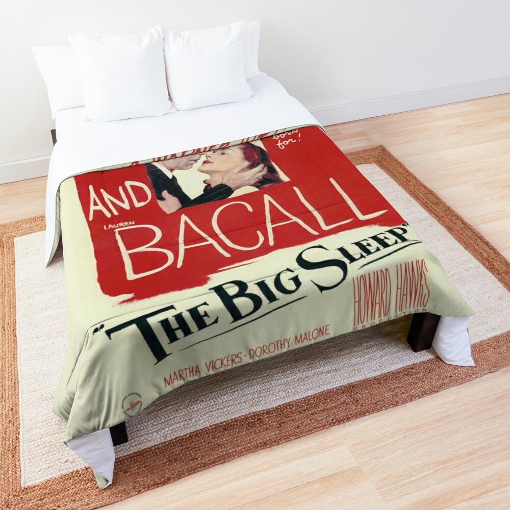 The Big Sleep - vintage movie poster (Bogart, Bacall) Comforter