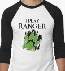 I Play Ranger Men's Baseball ¾ T-Shirt