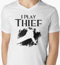 I Play Thief Mens V-Neck T-Shirt