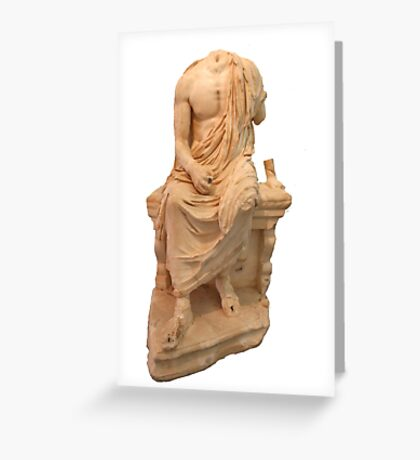The Statue of The Unidentified Philosopher Greeting Card