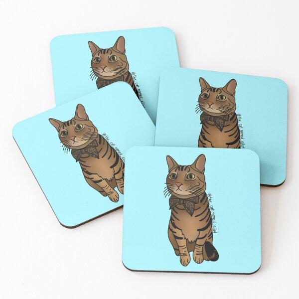 @the_cat_named_elliot (Instagram) Coasters (Set of 4)