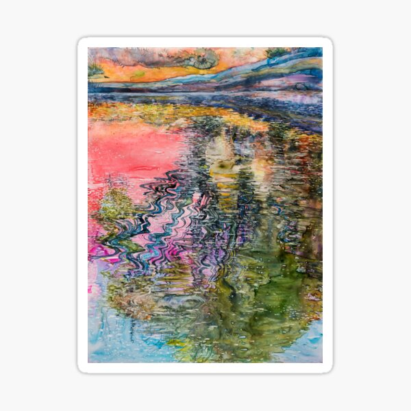 Watercolor Reflection on Water Sticker