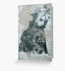 STENCIL: Cloud Strife - Final Fantasy VII Greeting Card