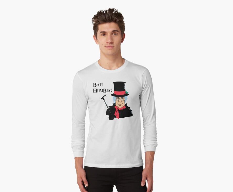BAH HUMBUG Christmas T-Shirt  by HolidayT-Shirts