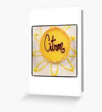 Citron Greeting Card
