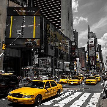 Yellow Cabs race on the Time Square by hannes61
