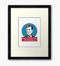 Mitt Romney For American President Framed Print