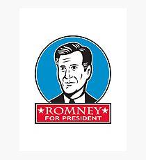 Mitt Romney For American President Photographic Print