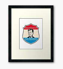 Mitt Romney For American President Shield Framed Print