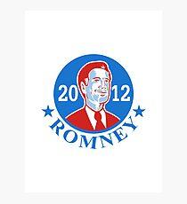 Mitt Romney For American President 2012 Photographic Print