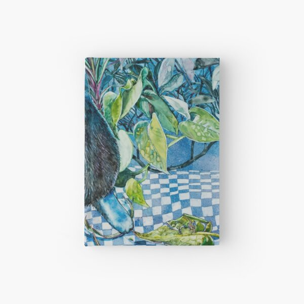 Who, Me? Naughty Cat Watercolor Painting Hardcover Journal