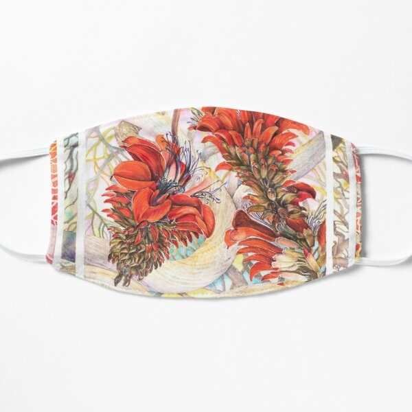 Coralflowers Watercolor Painting Mask