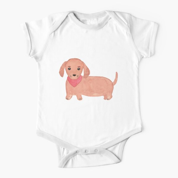 Dachshund - Sausage Dog  Short Sleeve Baby One-Piece