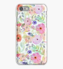 Pretty watercolor hand paint abstract floral iPhone Case/Skin