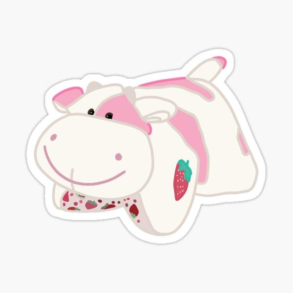 strawberry cow pillow pet Sticker