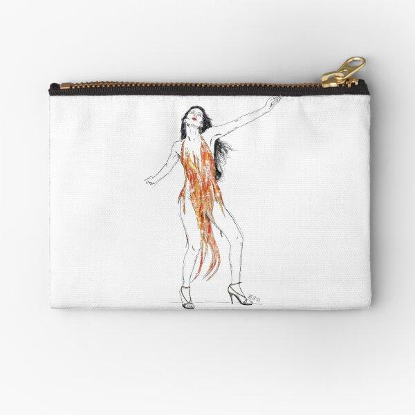 Cher Fire Dress Zipper Pouch