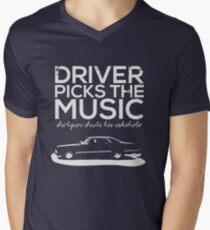 Driver picks the music, Men's V-Neck T-Shirt