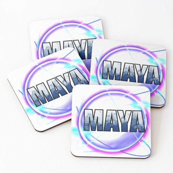 Maya the siren logo Coasters (Set of 4)