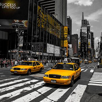 Yellow Cabs cruisin on the Time Square by hannes61