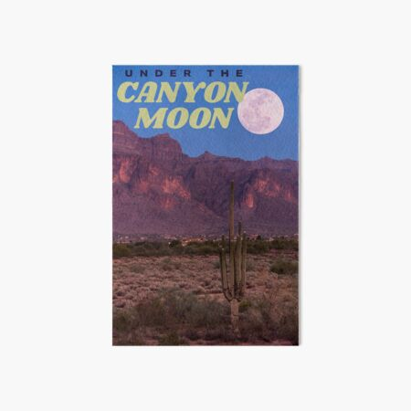 canyon moon Art Board Print