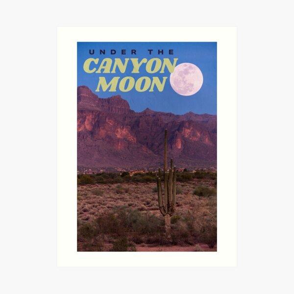 canyon moon Art Print