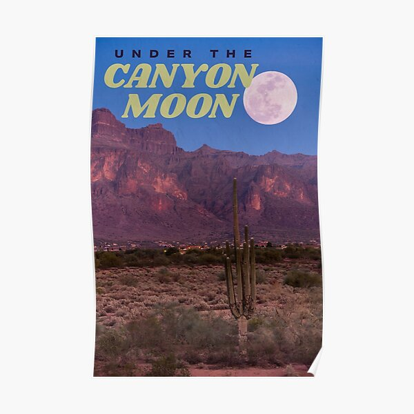 canyon moon Poster