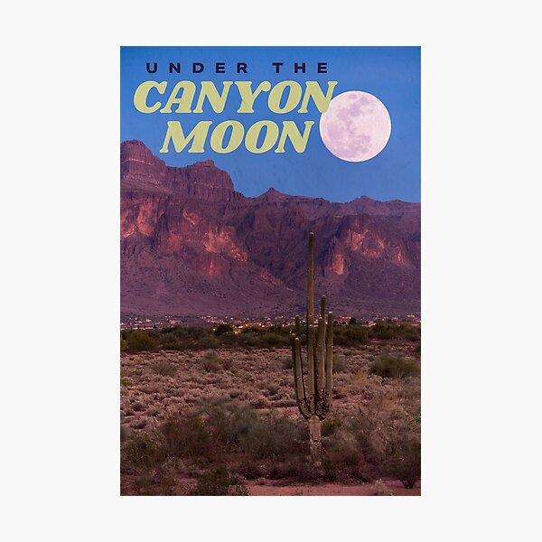 cañón luna Lámina fotográfica
