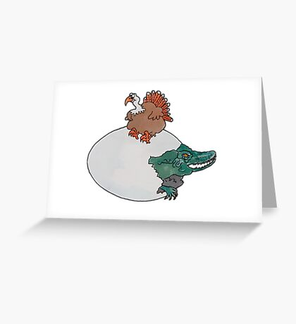 Turkey or the Egg Greeting Card